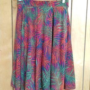 LuLaRoe Small Madison Multicolor Palm Tree Skirt
